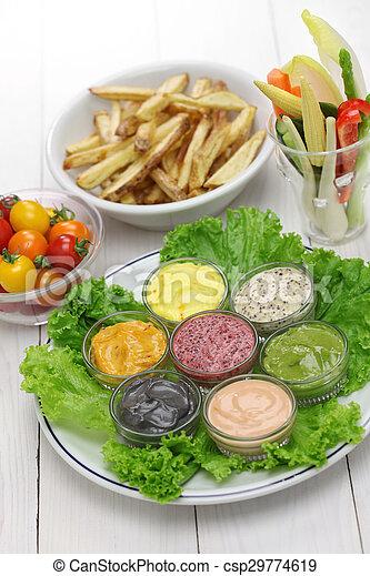 Salsa de mayonesa variada - csp29774619