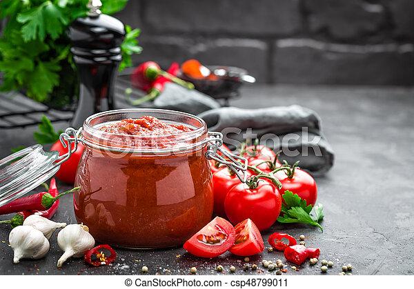 Salsa de tomate - csp48799011