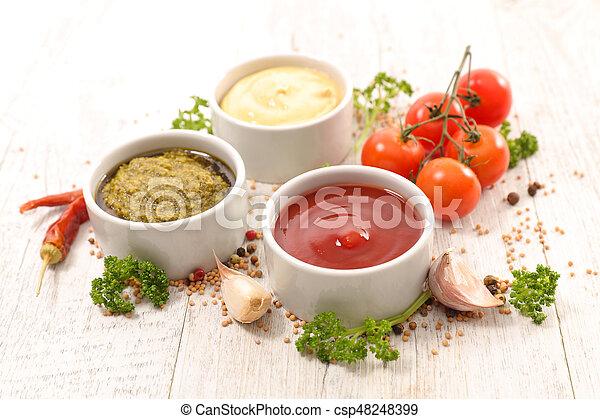 Salsa variada y salsas - csp48248399