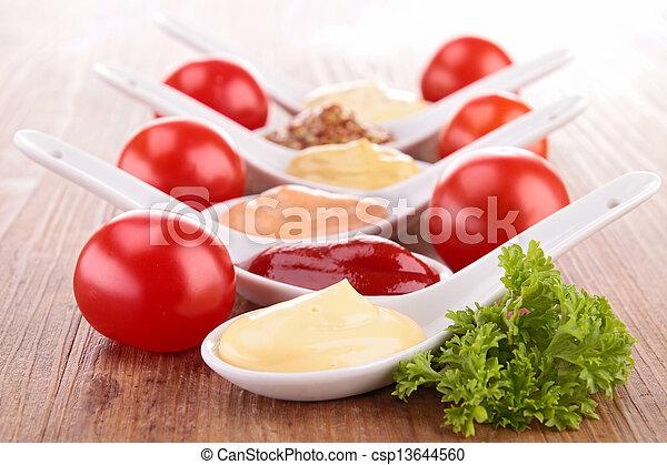 Una variedad de salsa - csp13644560