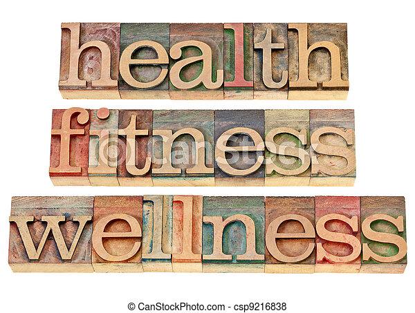 Salud, aptitud, bienestar - csp9216838