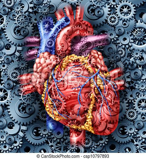 Salud cardíaca humana - csp10797893