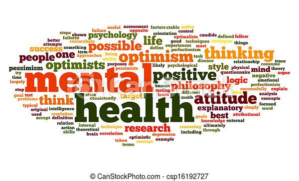 Salud mental en una nube de etiqueta - csp16192727