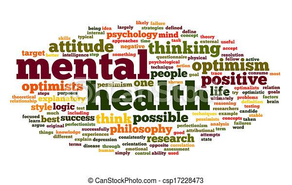 Salud mental en una nube de etiqueta - csp17228473