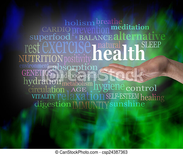 Salud en la palma de tu mano - csp24387363