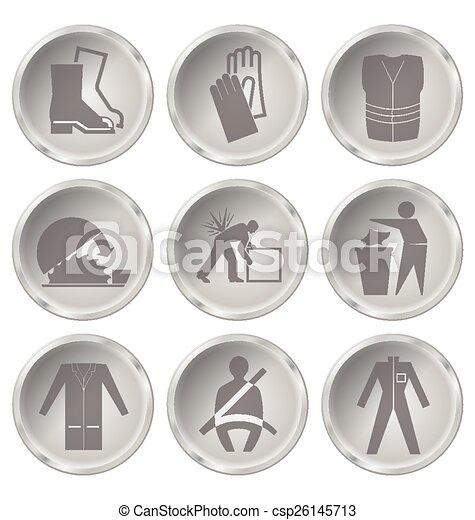 Salud y iconos de seguridad - csp26145713