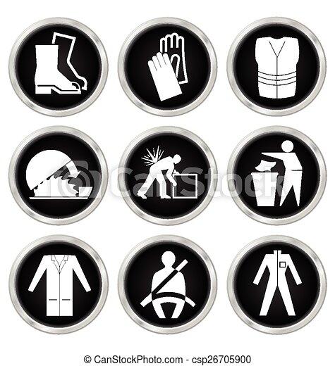 Salud y iconos de seguridad - csp26705900