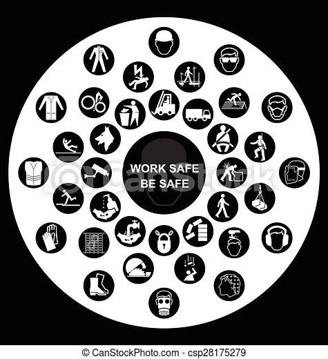 Salud y iconos de seguridad - csp28175279