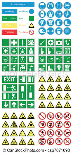 Señales de seguridad y salud peligrosas - csp7871098