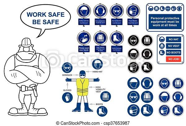 Salud y signos de seguridad - csp37653987