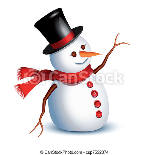 Saludos de Snowman - csp7532374