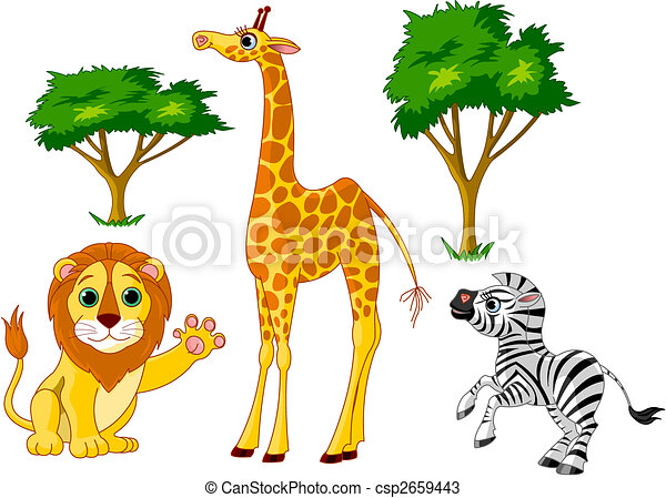 Animales salvajes 1 - csp2659443