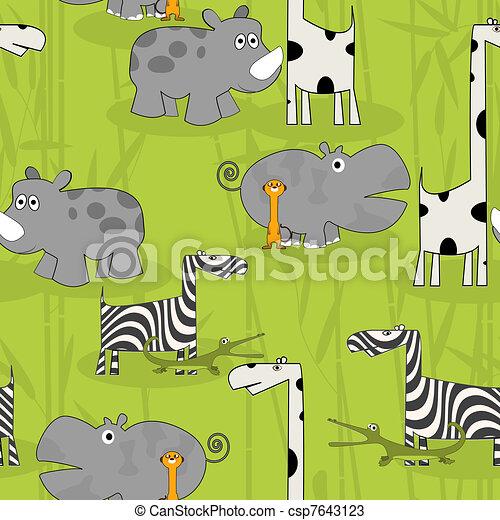 Patrón de animales salvajes - csp7643123
