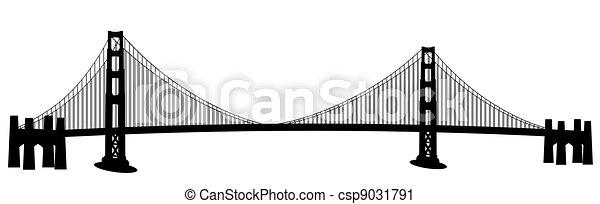 San Francisco, arte de cortar puentes de oro - csp9031791