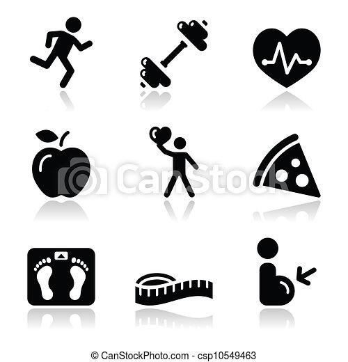 Sanidad y salud, un icono negro y limpio - csp10549463
