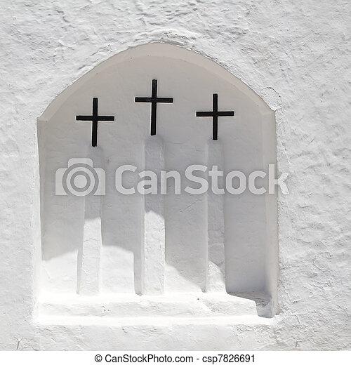 Ibiza iglesia blanca en San Carlos Peralta - csp7826691