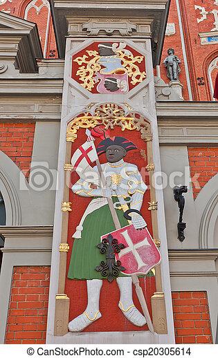 Santa Maurice. Casa de negros, riga, Letonia - csp20305614