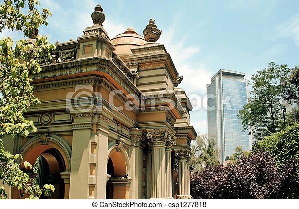 Santiago por el chile - csp1277818