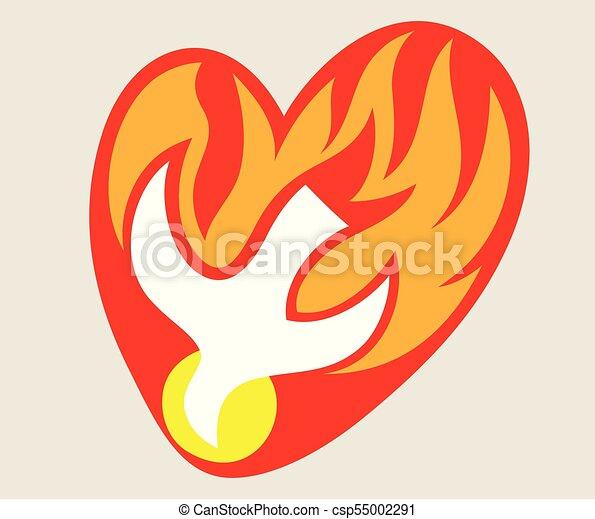 Santo espíritu, el logo del fuego - csp55002291