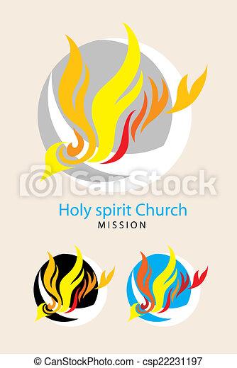 Santo logo de espíritu - csp22231197