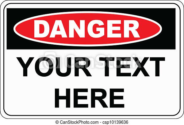 Señal de peligro - csp10139636