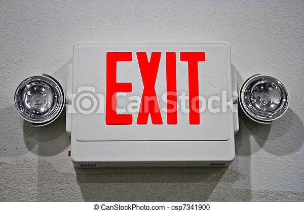 Señal de salida de emergencia - csp7341900