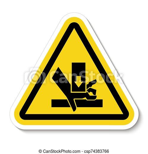 señal, símbolo, aglomeración, ilustración, sobre, aislar, vector, mano, plano de fondo, fuerza, blanco - csp74383766
