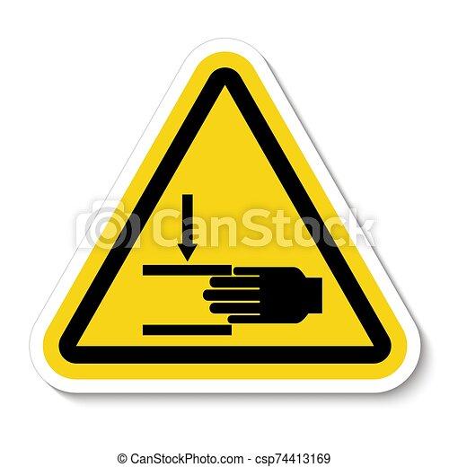 señal, símbolo, aglomeración, ilustración, sobre, aislar, vector, mano, plano de fondo, fuerza, blanco - csp74413169