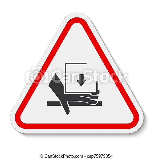 señal, símbolo, aglomeración, ilustración, sobre, aislar, vector, mano, plano de fondo, fuerza, blanco - csp75973054