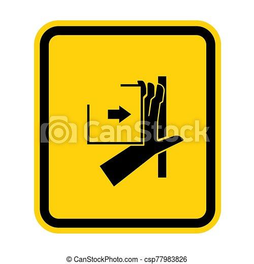 señal, símbolo, aglomeración, ilustración, sobre, aislar, vector, mano, plano de fondo, fuerza, blanco - csp77983826