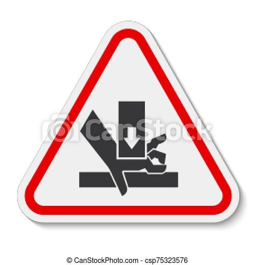 señal, símbolo, aglomeración, ilustración, sobre, aislar, vector, mano, plano de fondo, fuerza, blanco - csp75323576