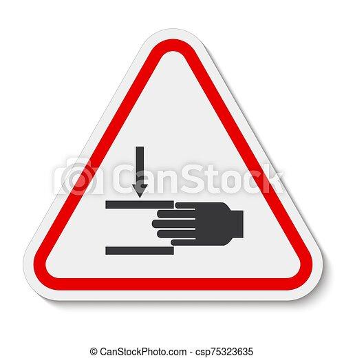 señal, símbolo, aglomeración, ilustración, sobre, aislar, vector, mano, plano de fondo, fuerza, blanco - csp75323635