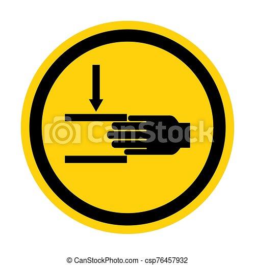 señal, símbolo, aglomeración, ilustración, sobre, aislar, vector, mano, plano de fondo, fuerza, blanco - csp76457932