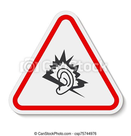 señal, símbolo, ilustración, aislar, vector, ruido, plano de fondo, blanco - csp75744976