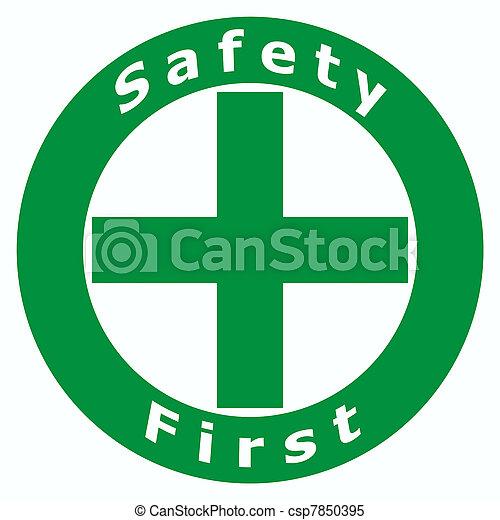 Primera señal de seguridad - csp7850395