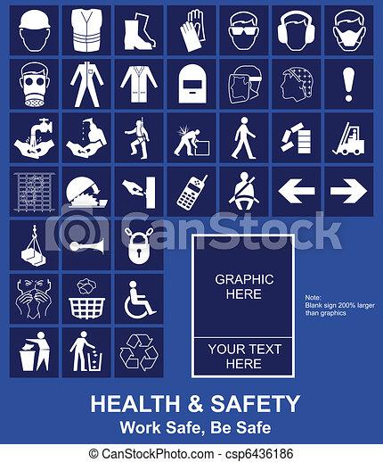 Signo de salud y seguridad - csp6436186