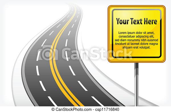 Señales de carretera con autopista - csp11716840