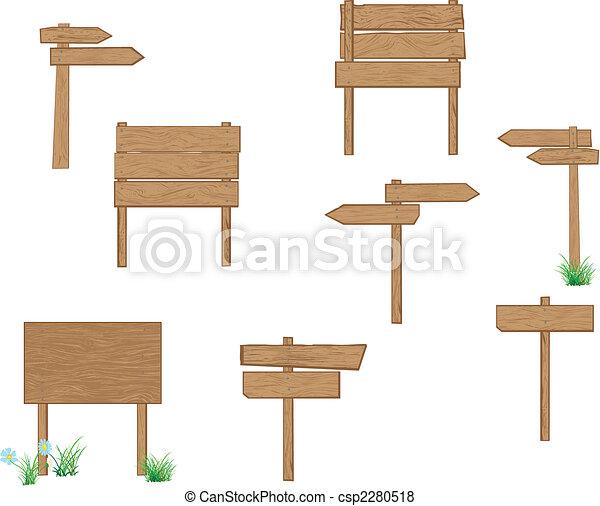Señales de madera marrón - csp2280518