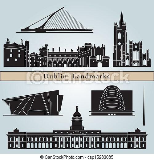 Señales y monumentos de Dublín - csp15283085
