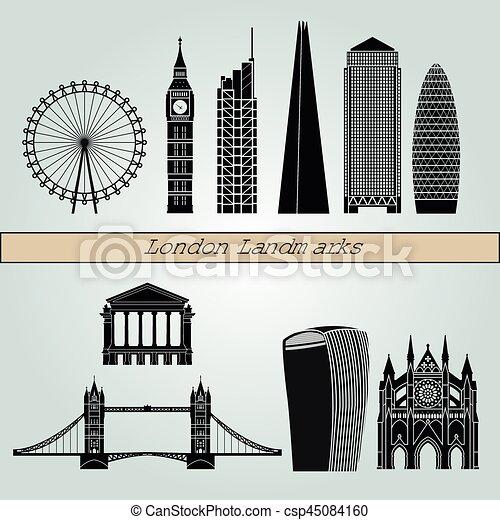 London V2 puntos de referencia - csp45084160