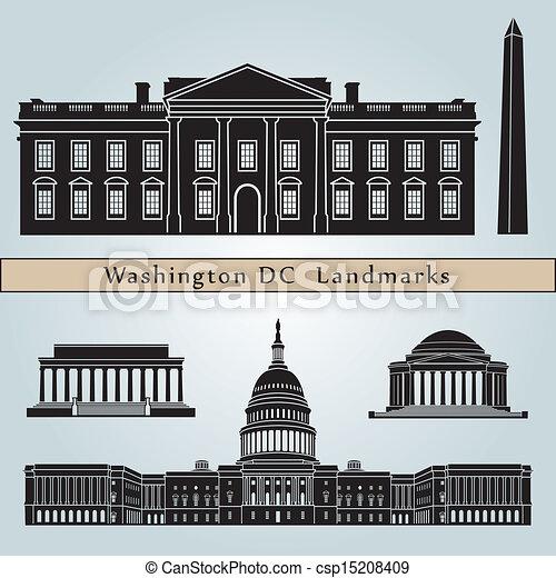 Washington DC marca y monumentos - csp15208409