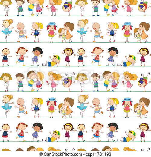 Niños indefensos - csp11781193