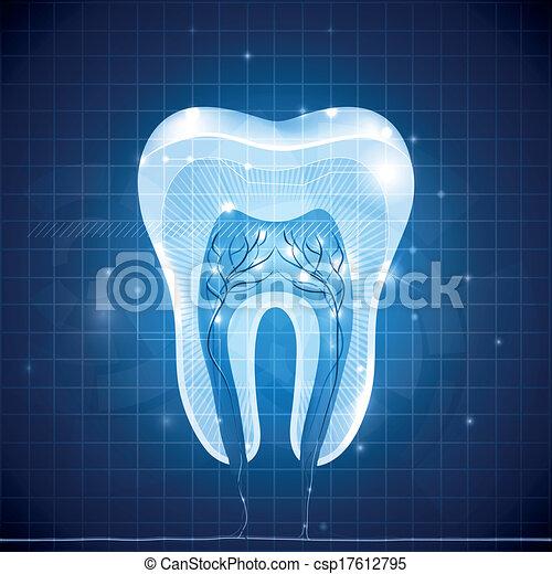 Sección de cruce de dientes abstractos - csp17612795