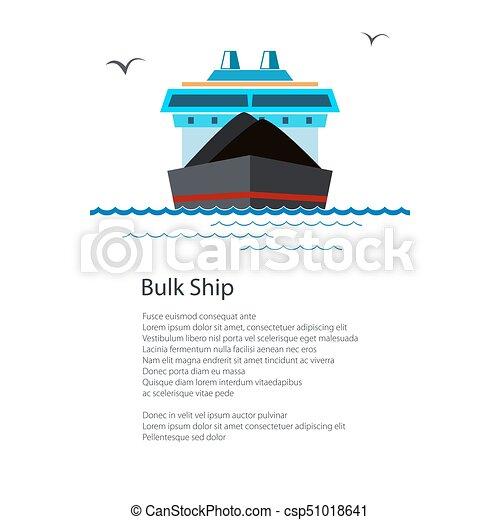 Un barco de carga seco - csp51018641