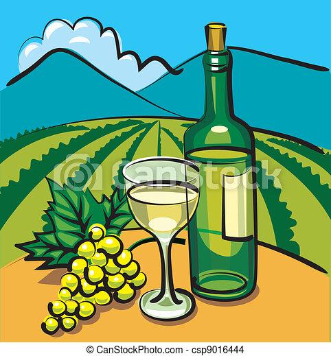 Vino seco y uva - csp9016444