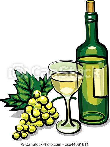 Vino seco blanco - csp44061811