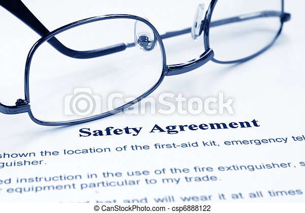 Un acuerdo de seguridad - csp6888122