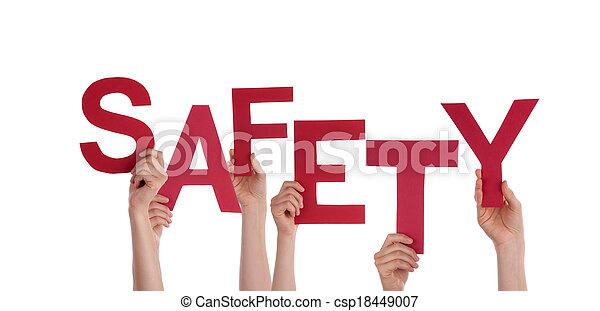 Las manos a salvo - csp18449007