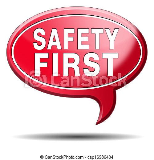 La seguridad primero - csp16386404