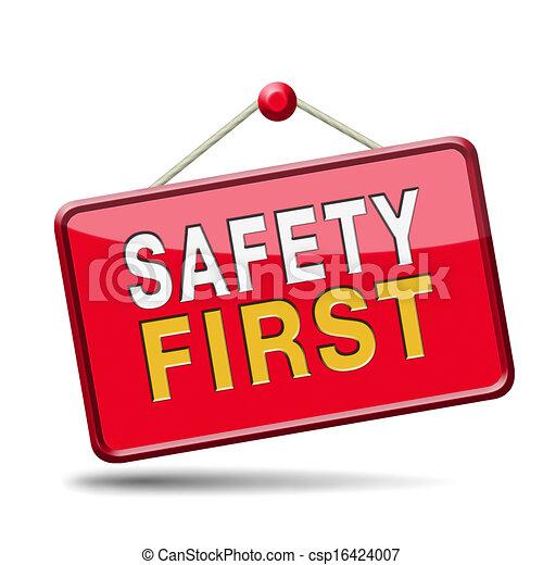 La seguridad primero - csp16424007